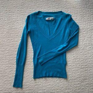 Garage Clothing Blue V Neck Sweater